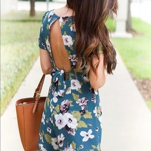 Leith floral romper